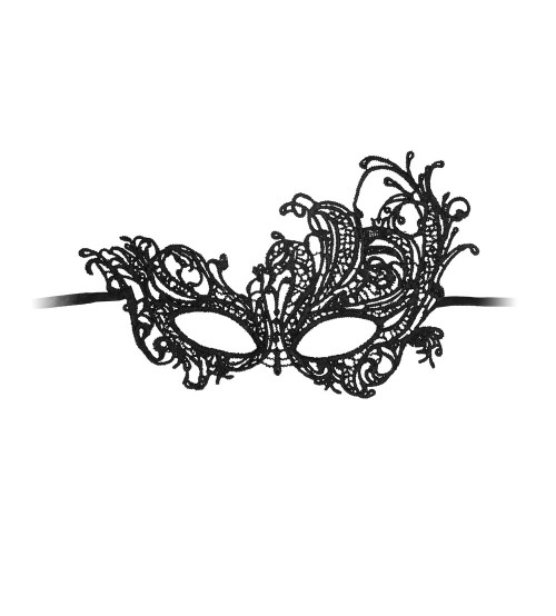 Posh Affair Royal Black Lace Mask